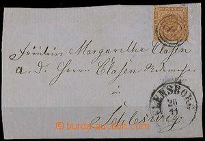 27121 - 1854? Mi.4 on/for ostříhané front side letter with addres