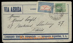 27124 - 1930 L-dopis do Paříže, vyfr. zn. Mi.287, 327, DR Serv. Aero