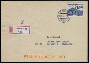 27153 - 1978 ČSR II,  R-dopis s R-nálepkou s převráceným názve