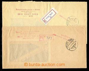 27154 - 1979 ČSR II,  2 úvěrované R-dopisy, 1x s R-nálepkou a 1