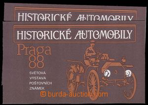 27178 - 1988 Pof.SL2834/2835, historical cars, 2 booklets with the s