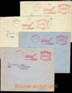 27188 - 1938-40 meter stmp PRAGUE 1 BankoKnapp, 4 pcs of envelopes w
