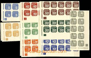 27199 - 1939 Pof.NV1-9, the bottom bnd-of-20 with plate number L + R