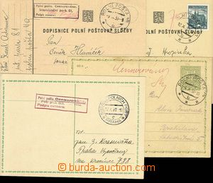 27214 - 1938 4 FP cards sent to zápolí, FP 19b, 21b, 49a and FP COLL
