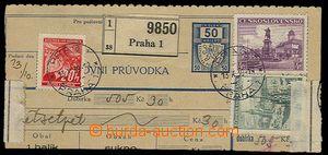 27240 - 1939 ústřižek průvodky se smíšenou frankaturou čs. a