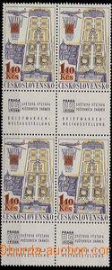 27278 - 1967 Pof.L59, 4-blok s dolními kupóny na papíru oz, svě�