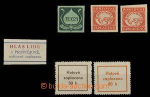 27285 - 1945 novinové etikety ČIN (Brno), 2x ROVNOST (Brno), HLAS
