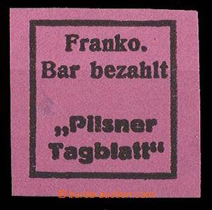 27286 - 1918 provisional, Pof.NN19a Pilsner Tagblatt on red paper, m