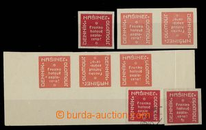 27287 - 1918 provisional, Pof.NN18, selection of labels also TB, var