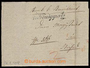 27295 - 1818 folded R letter with CDS v:Königgratz, Vot.1065 this v