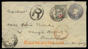 27319 - 1897 postal stationery cover Mi.U12A, uprated stamp. Mi.88 a