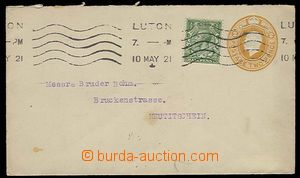 27321 - 1921 postal stationery cover Asch.32 (152x90mm), uprated sta