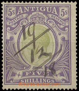 27322 - 1913 SG.51, Jiří V. 5Sh, perem vyznačeno datum použití 19/12