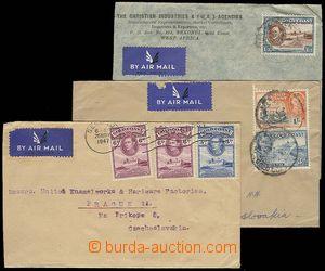 27337 - 1947-48 sestava 3ks Let-dopisů do ČSR, vyfr. zn. SG.124 a