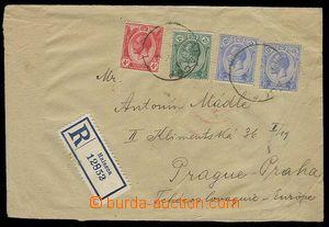 27350 - 1923 R-dopis do ČSR, vyfr. zn. SG.219, 222, 2x 232, DR Mala