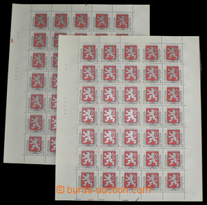 27366 - 1993 Pof.1, both complete. printing sheets, all plate variet