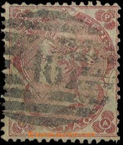 27383 - 1862 Mi.18, carmine 3p, small letters AP/PA, small fraying i