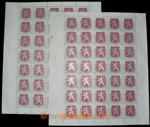 27394 - 1993 Pof.1, both complete sheets, all plate variety, mint ne