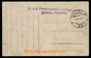 27396 - 1915 dvouřádkové fialové razítko  K.u.k. Reservespital