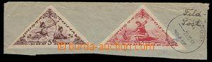 27401 - 1941 výstřižek z dopisu se známkami TOUVA, 5 a 10kop., 1