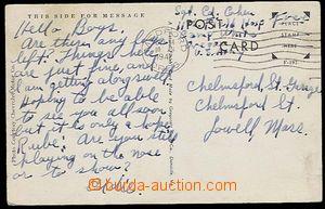 27408 - 1942 US ARMY,  postcard sent seržantem from 11. field hospi