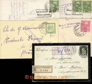 27422 - 1916-17 CENSORSHIP  comp. 5 pcs of various entires with cens