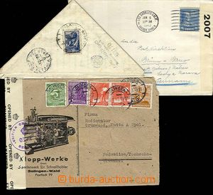 27423 - 1938-84 WW  partie 11ks cenzurovaných celistvostí, různé