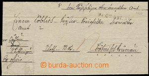 27425 - 1800 folded cover of letter Ex offo with straight line postm