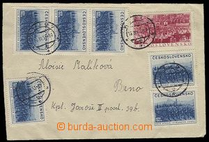 27427 - 1953 letter two-sided franked stamps Pof.18x 704 + 1x 725, C