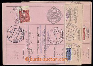 27449 - 1940 3ks adresních částí šekových poukázek s vylepen�