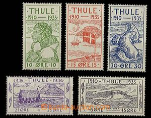 27452 - 1935 THULE  Mi.1-5, 25. anniv of foundation villages, mint n