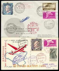 27454 - 1955-56 ITALY  2 pcs of L-dopisů from 8. and 9. year Giro A