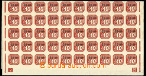 27457 - 1939 Pof.OT1, complete sheet with plate number 2-39, ending