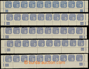 27461 - 1939 Pof.NV2, the bottom bnd-of-10 S plate number 26-41, 27-