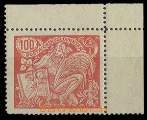 27468 - 1923 Pof.173A/ T II., corner piece with margin and plate var