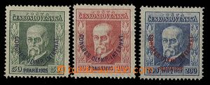 27469 - 1925 Congress, Pof.180-182, wmk P7, P7, P8, unexamined, c.v.
