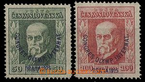 27470 - 1925 Congress Pof.180, 181, both stamps P8, c.v.. 500CZK