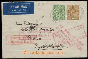 27492 - 1930 L-dopis do ČSR, DR Deepcut camp/ 9 SP 30., prošlý 4