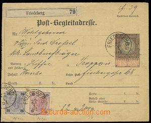 27511 - 1891 větší část balíkové průvodky (Sch.86) s kolkem