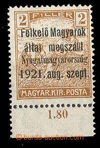 27540 - 1921 Západní Maďarsko, Felkelö Magyarok, přetisk I.emis