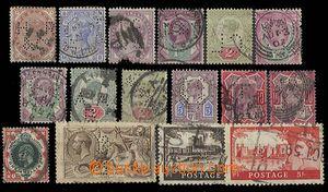27545 - 1880-1955 VELKÁ BRITÁNIE, sestava 16ks lepších známek (