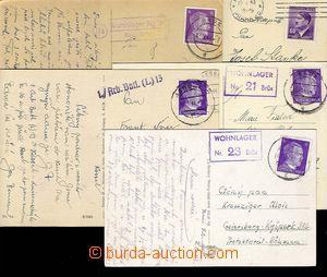 27560 - 1943-44 5ks pohlednic, 4x od pracovně nasazených v Sudetec