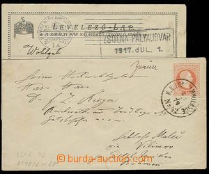 27571 - 1879-1917 postal stationery cover 5 pcs of with railway pmk