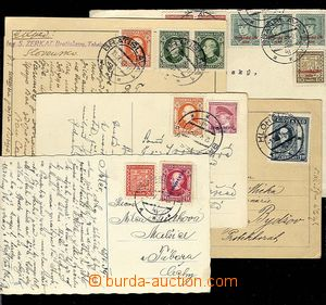 27578 - 1939 comp. 5 pcs of entires from start Slovak Rep., 3x frank