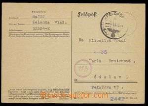 27588 - 1944 PC German FP to Bohemia from member of Protectorate arm