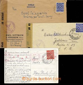27590 - 1946-47 US ZONE  3 pcs of entires sent from American zone/-s