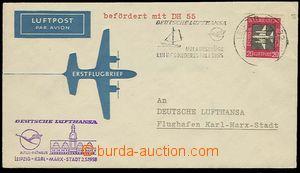 27593 - 1958 GDR  envelope first flight LEIPZIG - KARL-MARX-STADT 2.