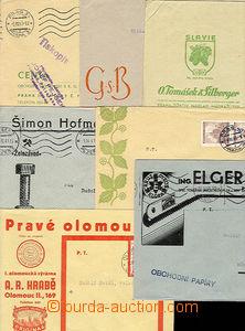 27604 - 1941 sestava 7ks prošlých dopisů s reklamními přítisky