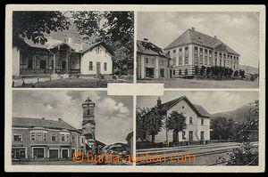 27609 - 1934 Jelšava, 4-okénková čb pohlednice, mj. nádraží, prošlá,