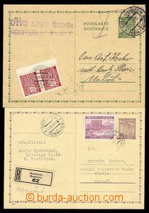 27615 - 1940-41 CDV1 used in postal rate II and burdened by postage-